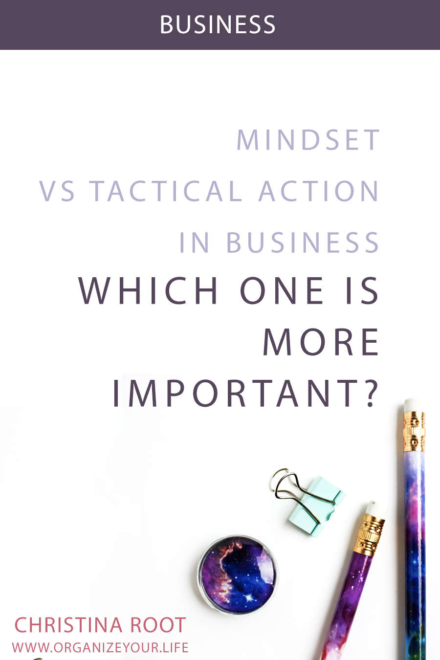 Money mindset vs tactical action in business: which is more important?