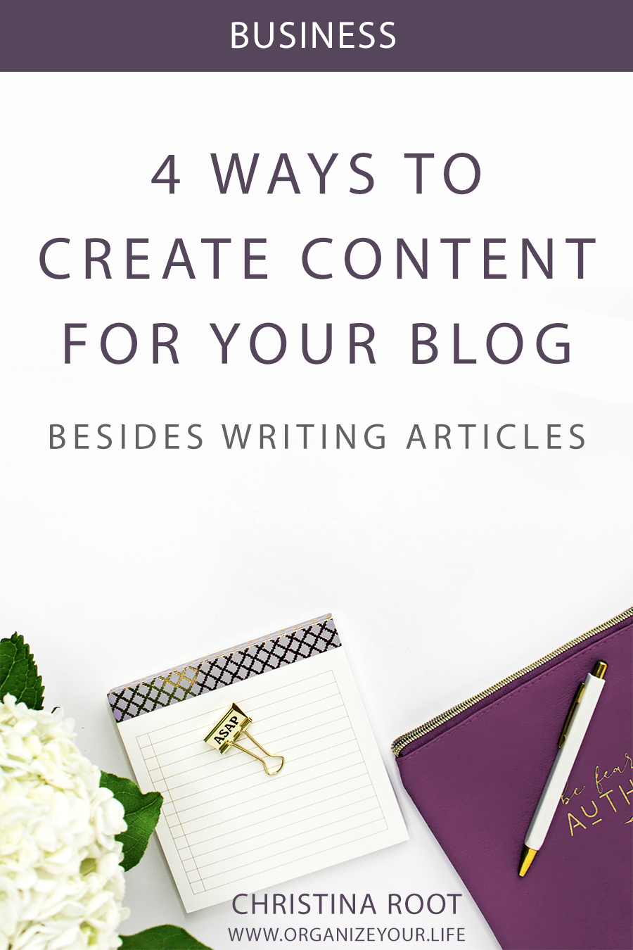 4 Ways to Create Content for your Website Besides Writing Articles