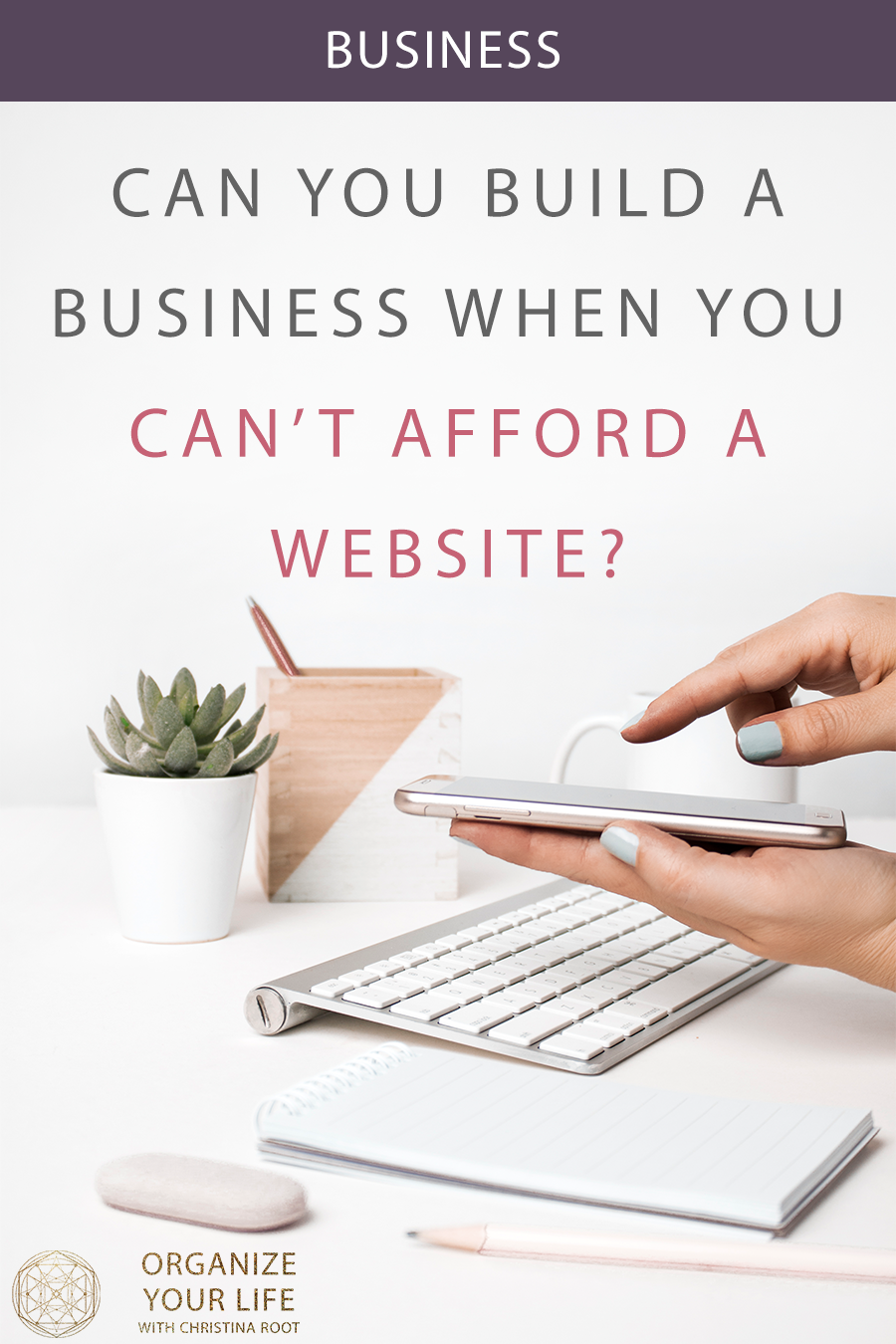 Can you build a business when you can't afford a website?